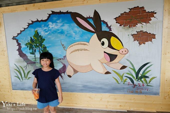 屏東景點【墾草趣生態園】梅花鹿園區新景點!親子室內餵草泥馬、小兔子 - yukiblog.tw