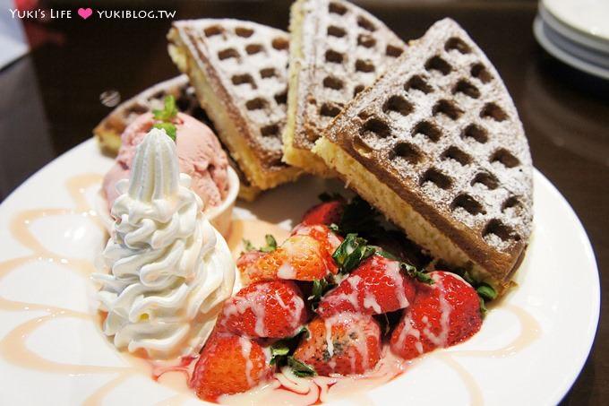 板橋美食【Birkin Waffle cafe】吃早午餐及鬆餅的浪漫餐廳 @新埔站