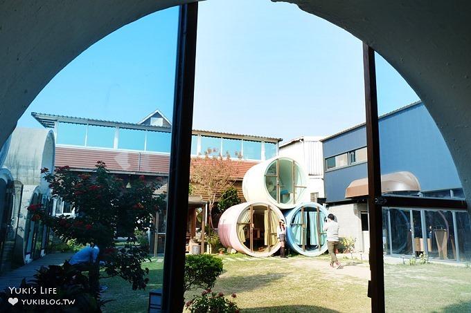 彰化花壇美食景點【別有洞天】水管屋草皮景觀餐廳×工業風水管包廂~姐妹拍照去 - yukiblog.tw