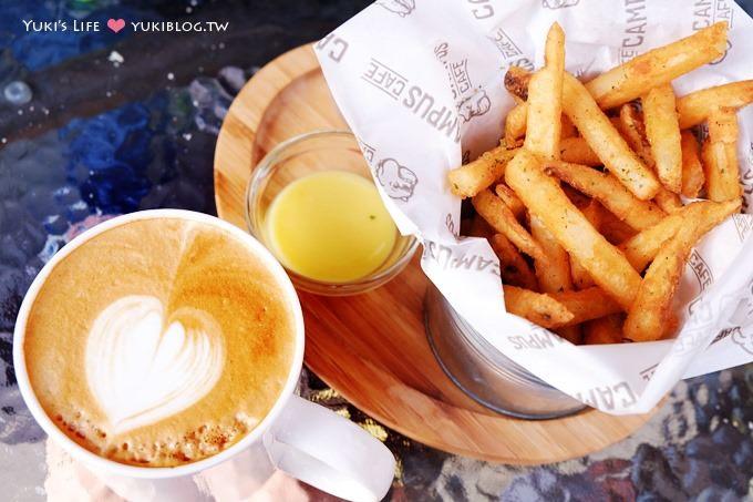 台北美食【CAMPUS CAFE】美式餐廳‧很陽光的開放式店面空間❤