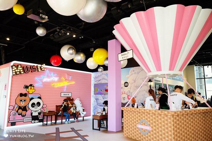 台北信義區最新打卡點【LINE FRIENDS粉甜星旅程】CHOCO粉紅體驗館×貨櫃市集×LINE FRIENDS CAFE主題館 - yukiblog.tw