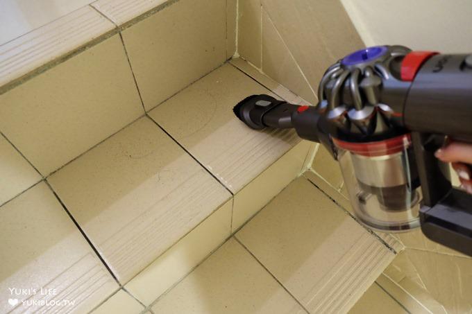 居家必備【Dyson V8 absolute+ 無線吸塵器】超強吸力×免彎腰免接電線!打掃方便好用又有效率! - yukiblog.tw