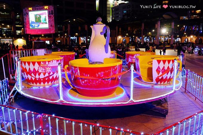 【2013新北市歡樂耶誕城】主燈華麗吸睛! 時而浪漫時而驚喜! @板橋市政府、板橋火車站捷運站 - yukiblog.tw