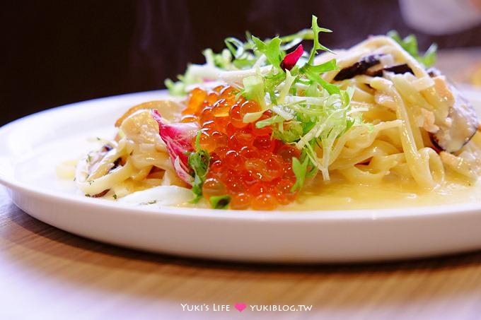 台北【楓露廚房find the life kitchen】讓人驚艷的創意鮭魚卵親子義大利麵@松江南京站 - yukiblog.tw