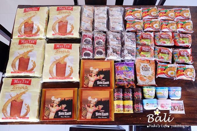 【峇里島必買戰利品】巴里島家樂福、Nirmala Market大採購(Indomie印尼泡麵、Max Tea拉茶、LuLuR去角質霜、mini OREO、CHACHA巧克力)