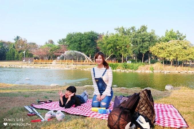 彰化免費親子景點【溪州公園】幸福花園野餐好去處×餵魚餵鴨還能騎腳踏車! - yukiblog.tw