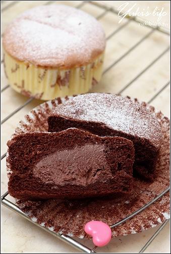 [瘋體驗試吃]*幸福咬一口~3吋冰心爆漿蛋糕(卡士達/巧克力) - yukiblog.tw